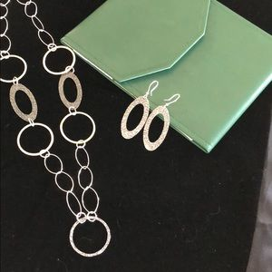 STUNNING Sterling Silver Necklace and Earring Set